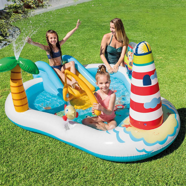 インテックス(INTEX) フィッシングプレイセンター ファミリープール 57162NP 家庭用 ビニールプール 水遊び (19y5m)