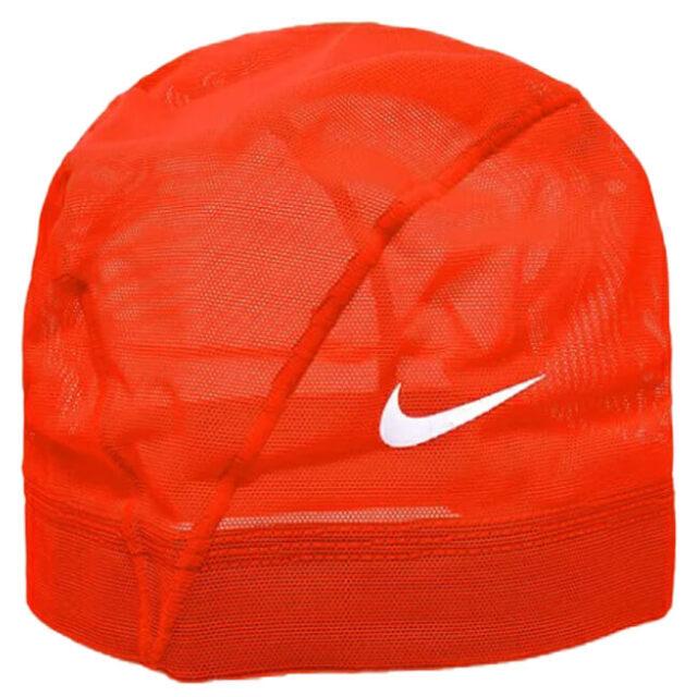 ナイキ(NIKE) ユニセックス メッシュスイムキャップ 水泳帽 907461-04 オレンジ(20y5m)