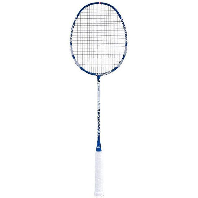[バドミントンラケット]バボラ(Babolat) プライム パワー ガット張上済 海外正規品 バドラケット 601361-268 ブルーグレー×ホワイト(20y8m)[AC]