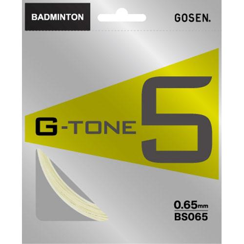 【パッケージ品】ゴーセン ジートーン5(0.65mm) BS065 バドミントンガット(GOSEN G-TONE5)