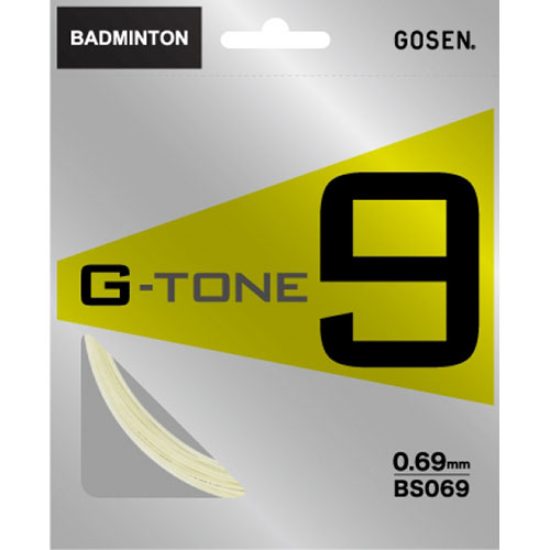 【パッケージ品】ゴーセン ジートーン9(0.69mm) BS069 バドミントンガット(GOSEN G-TONE9)