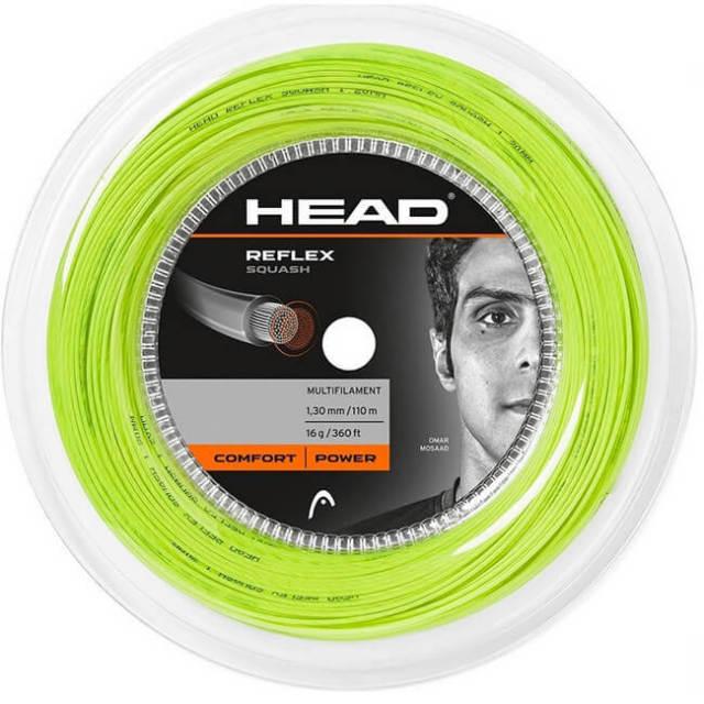 ヘッド(HEAD) リフレックス スカッシュ 18G(1.20mm) イエロー 110Mロール スカッシュ マルチフィラメントガット 281216(19y4m)
