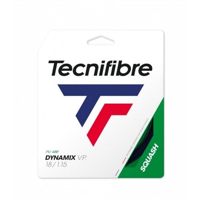 [単張パッケージ品]テクニファイバー(Tecnifibre) DYNAMIX V.P. (1.25mm/1.20mm/1.15mm) 9.7M スカッシュ マルチフィラメントガット 06GDYN-ブラック(20y11m)