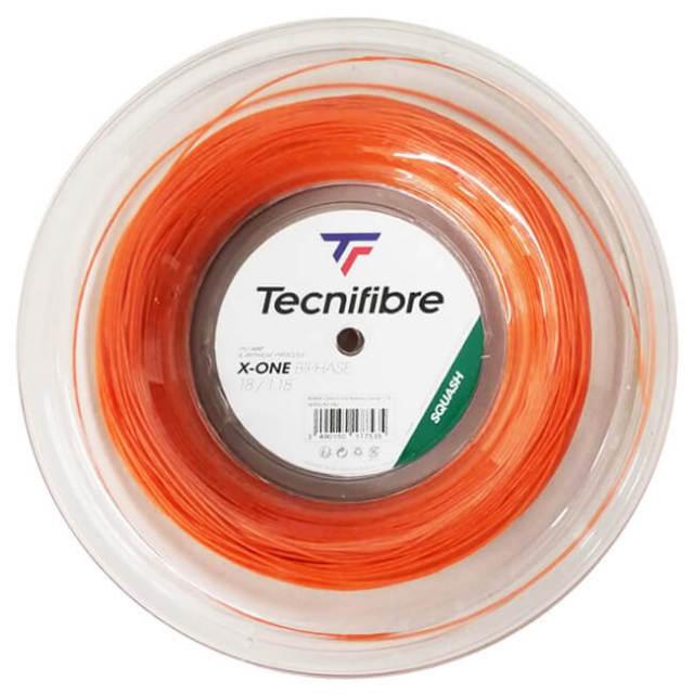 [スカッシュ用ガット]テクニファイバー(Tecnifibre) エックスワンバイフェイズ 18(1.18mm) 200Mロール マルチフィラメントガット 06RXON1180-オレンジ(20y10m)