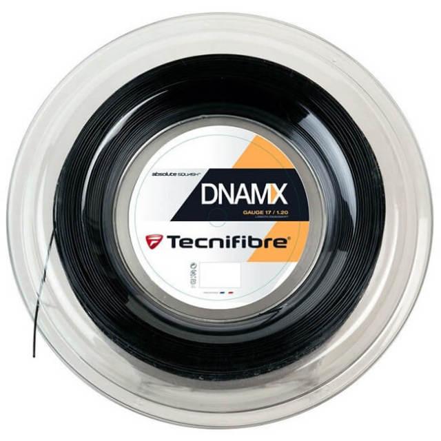 テクニファイバー(Tecnifibre) DNAMX 17(1.20mm) ブラック 200Mロール スカッシュ マルチフィラメントガット (19y4m)