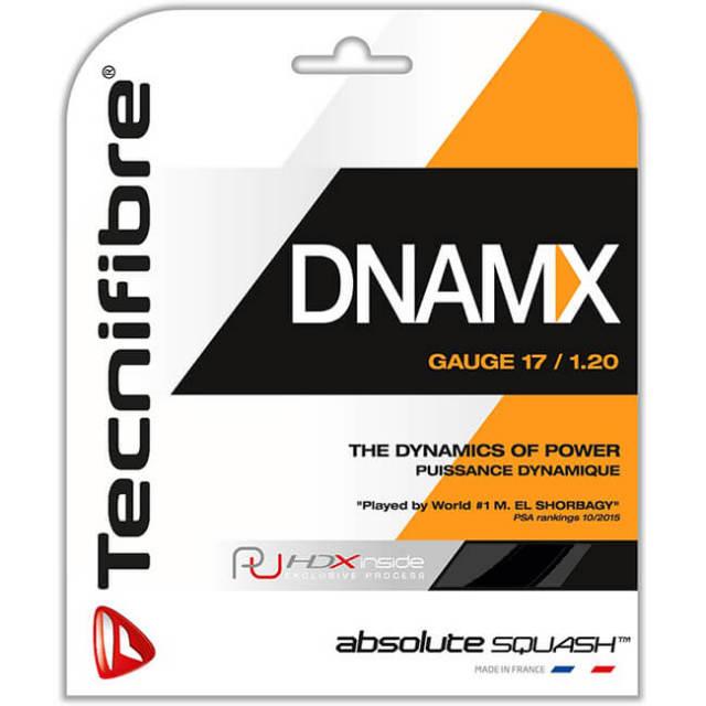 [単張パッケージ品]テクニファイバー(Tecnifibre) DNAMX 17(1.20mm) ブラック 9.7M スカッシュ マルチフィラメントガット (19y4m)