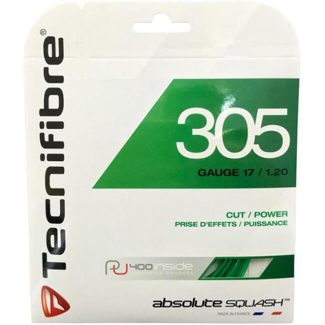 [単張パッケージ品]テクニファイバー(Tecnifibre) 305 グリーン 17(1.20mm) 9.7M スカッシュ マルチフィラメントガット (19y4m)