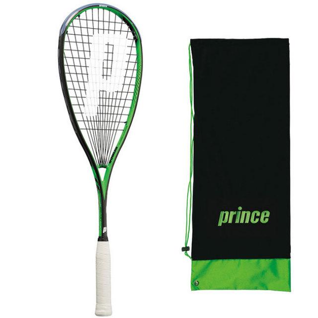 [ガット張上済]プリンス(Prince) プロビースト PB PRO BEAST PB ブラックxグリーン 国内正規品 スカッシュラケット 7SJ006(19y3m)