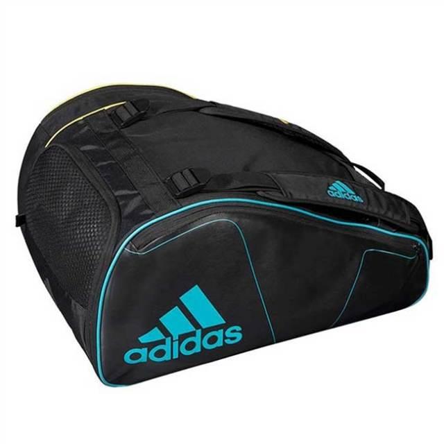 [パデルラケット収納可]アディダス(adidas) パデルラケットバッグ ツアー パデルバッグ BG1PB8-ブラック×イエロー×ブルー(20y5m)