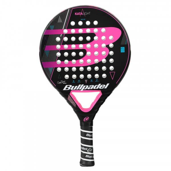 ブルパデル(Bullpadel) Kata ライト 18 (337g) ブラック×ピンク 海外正規品 パデル ラケット 453579(19y4m)