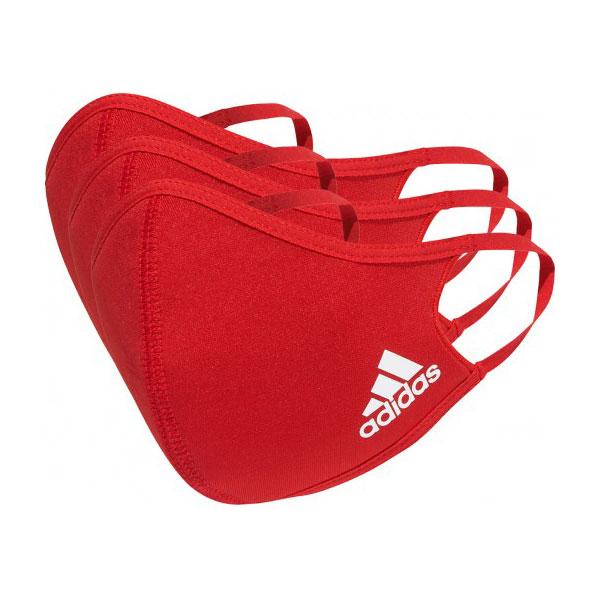 アディダス(adidas) ユニセックス フェイスカバー 3枚組 ウォッシャブルタイプ 洗えるマスク ATV004-H52419 レッド(21y1m)