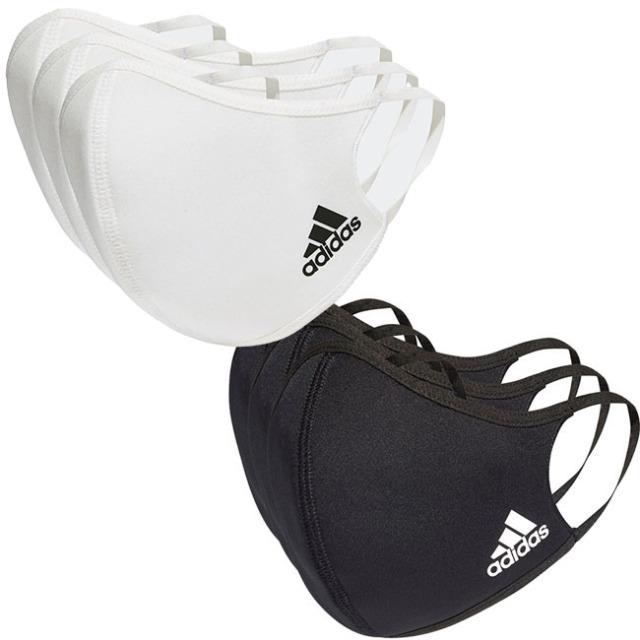 アディダス(adidas) ユニセックス フェイスカバー 3枚組 ウォッシャブルタイプ 洗えるマスク H34578/H08837 (20y12m)