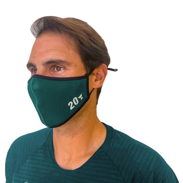 [2020グランドスラムSPエディション]ラファエル・ナダル(Rafa Nadal) 2020 大人用(ユニセックス) RAFA NADAL 布製マスク OL MASCVERDEAD-ダークグリーン(20y12m)