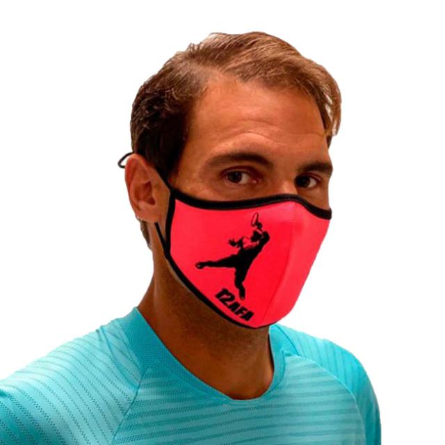 [2020パリ大会エディション]ラファエル・ナダル(Rafa Nadal) 2020 大人用(ユニセックス) RAFA NADAL ACADEMY 布製スポーツマスク OL MASCROSA12-ピンク(20y12m)