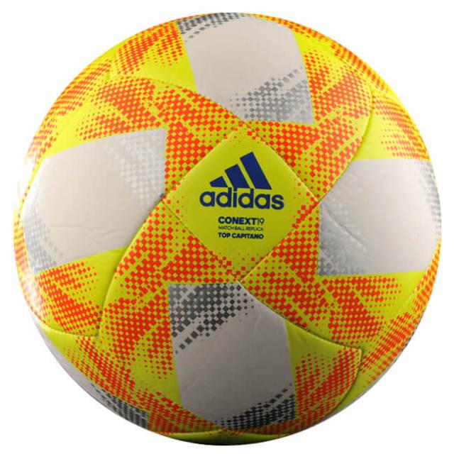 アディダス(adidas) CONEXT19(コネクト19) Top Capitano(トップキャピタノ)サッカーボール AF5873WR/AF4873WR-ホワイト×イエロー(19y12m)
