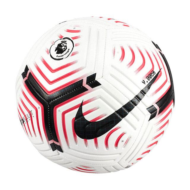 在庫処分特価】ナイキ(NIKE) プレミアリーグ ストライク サッカーボール CQ7150-100 ホワイト×レーザークリムゾン×ブラック(20y10m)