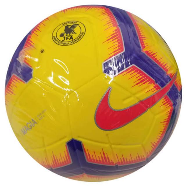 ナイキ(NIKE) マジア サッカーボール SC3321-710ハイビズイエロー×フラッシュクリムゾン(19y12m)