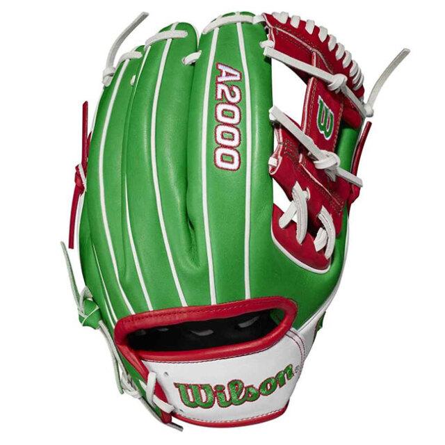 [メキシコ]ウィルソン(Wilson) 2021 A2000シリーズ カントリープライド 限定版 1786 11.5インチ 内野手用グローブ WBW100334115-MEXICO(21y2m)