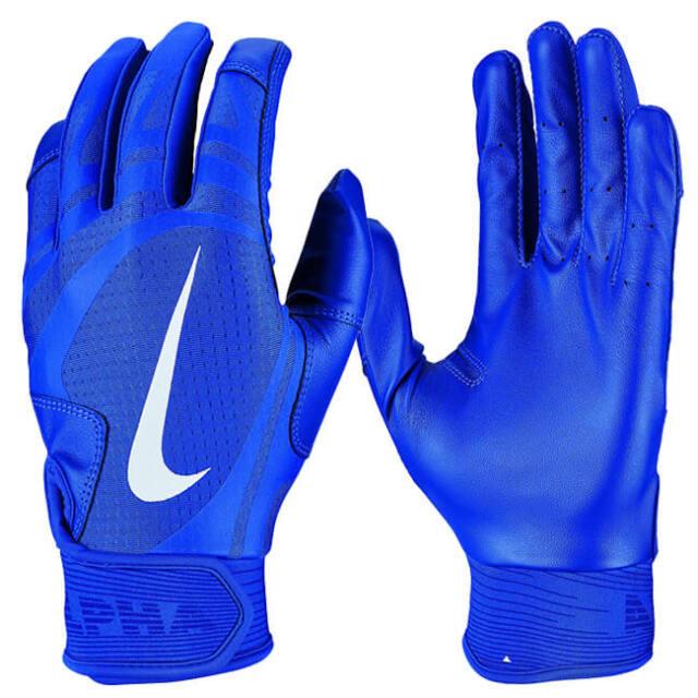 ナイキ(NIKE) メンズ アルファ ハラチ エッジ バッティンググローブ 手袋 BA1017-417 ゲームロイヤル×ホワイト(21y8m)