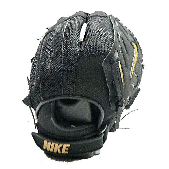 ナイキ(NIKE) ジュニア アルファ ハラチエッジ バスケット FG 少年軟式野球用グラブ BA1151-049 ブラック×メタリックゴールド(20y6m)