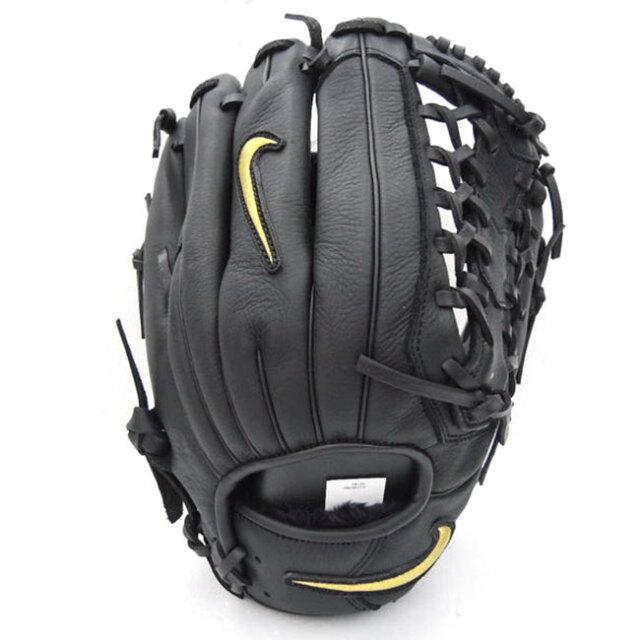 ナイキ(NIKE) アルファ ハラチエッジ MOD-トラップ FG 軟式野球用グラブ BA1105-049 ブラック×メタリックゴールド(20y6m)