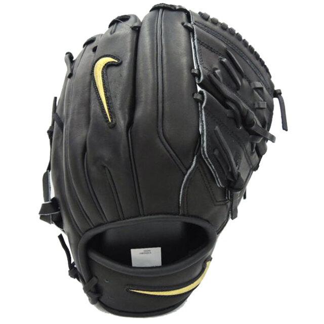 ナイキ(NIKE) アルファ ハラチ エリート 2ピース FG 軟式野球用グラブ BA1101-049 ブラック×メタリックゴールド(20y6m)