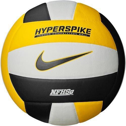 ナイキ(NIKE) HYPERSPIKE ハイパースパイク 18P バレーボール 屋内用ボール VB1005-112 ホワイト×ブラック×アマリロ(21y5m)
