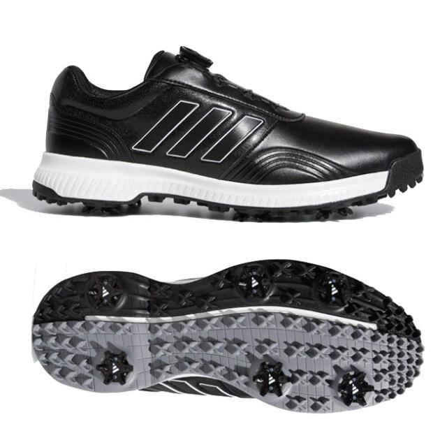 アディダス(adidas) メンズ CP トラクションボア ソフトスパイク ゴルフシューズ DBB81-F34199 コアブラック×クラウドホワイト×シルバーメタリック(20y12m)