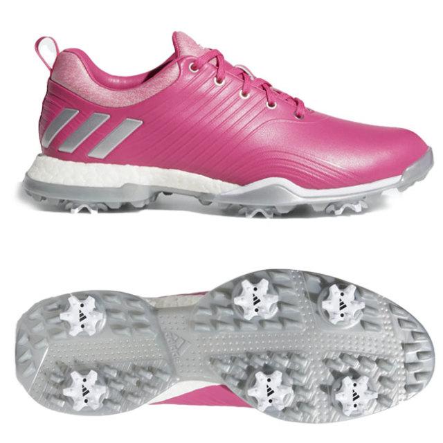 アディダス(adidas) レディース アディパワー フォージド ソフトスパイク ゴルフシューズ DA9746-リアルマゼンタ×シルバーメタリック×クラウドホワイト(19y7m)