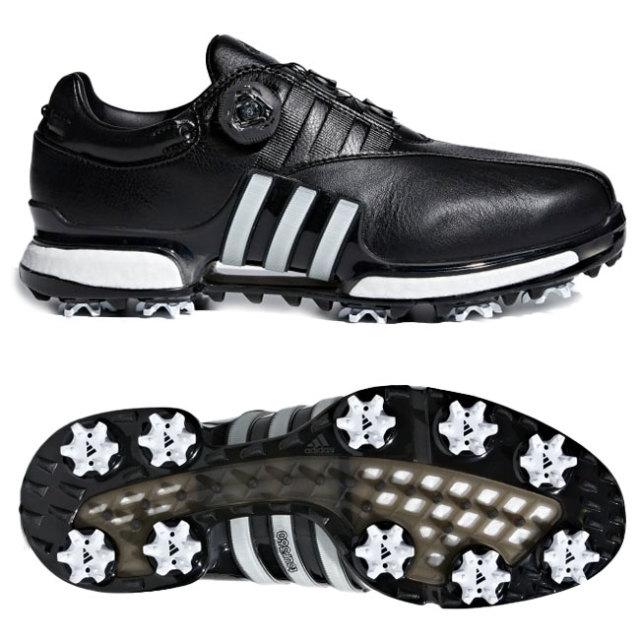 アディダス(adidas) メンズ ツアー360 EQT ボアシューズ ソフトスパイク ゴルフシューズ F33621-コアブラック×クラウドホワイト(19y7m)