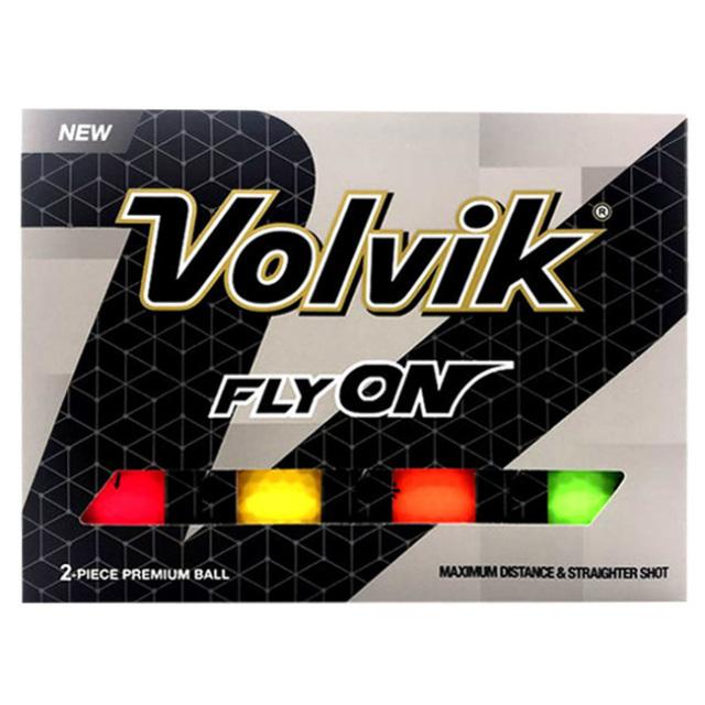 [12球入り1箱]ボルビック(Volvik) FLYON ゴルフボール カラフルボール (21y1m)