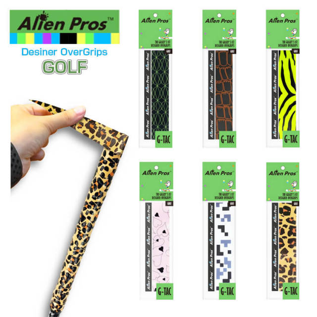 [ゴルフ用ウェット1本入]Alien Pros(エイリアン プロス) デザイナー ゴルフ オーバー グリップテープ ウェット タイプ GT-GO-1(20y9m)