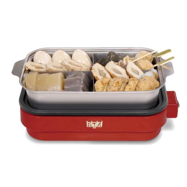 [おうちがいつでもおでん屋さんに!]HAC(ハック) ホットプレート付き おでん調理鍋 HAC2739A-レッド×ブラック(21y2m)