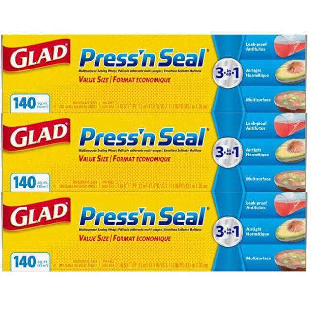 GLAD(グラッド) ストレージフードラップ プレス&シール 43.4m×3本セット 多用途シールラップ 350086(21y2m)