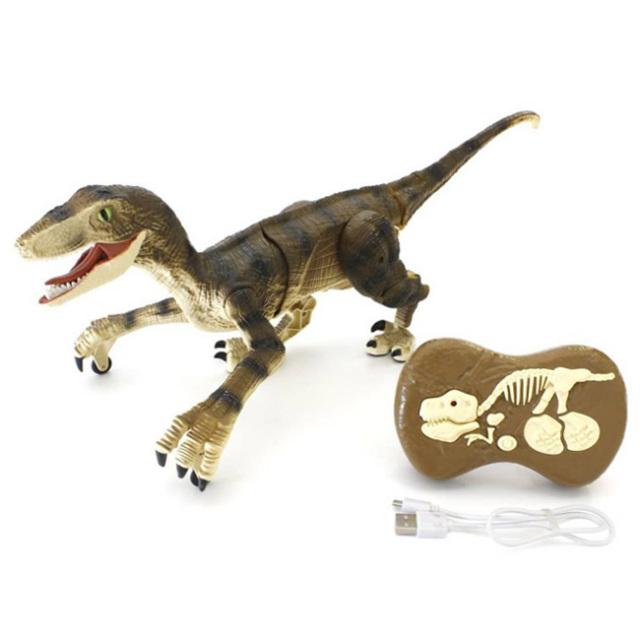 「肉食恐竜がリアルに歩きほえる」京商エッグ(KYOSHO EGG) ダイナソー ラン ヴェロキラプトル R/C TS072(21y10m)