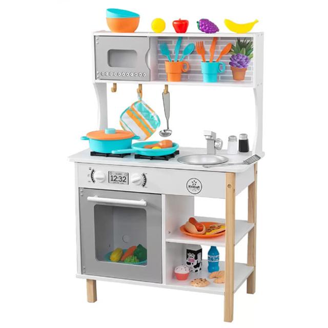 「本格キッチンでリアルおままごと!」キッドクラフト(KidKraft) 初めてのキッチン 木製キッチン おままごと ※お客様組立商品※ 53370(21y9m)