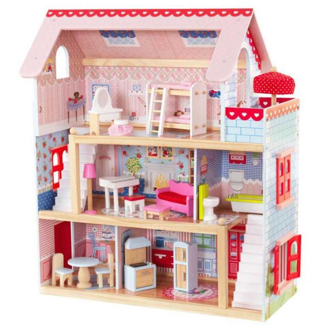 キッドクラフト(KidKraft) チェルシー ドールコテージ 3階建木製ドールハウス ※お客様組立商品※ 65054(21y9m)
