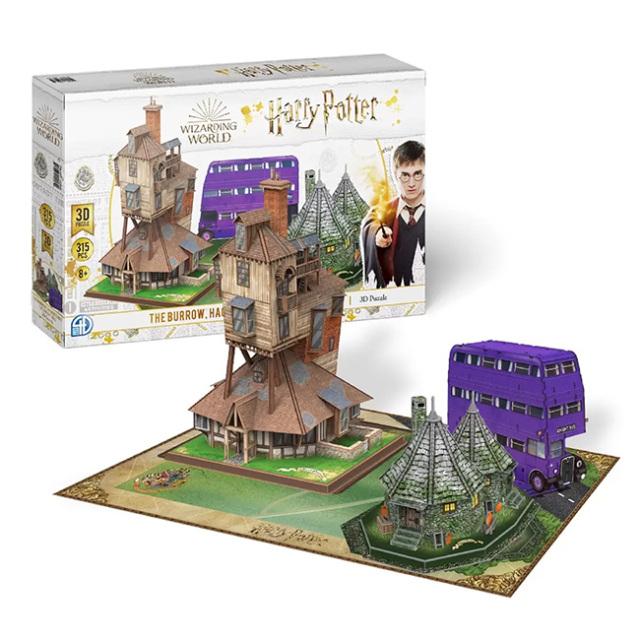 「秋の夜長に挑戦!」4Dシティスケープ(4D Cityscape) 3D立体パズル ハリーポッター バロウ ハグリッドの小屋 ナイトバス 1422626-2(21y9m)