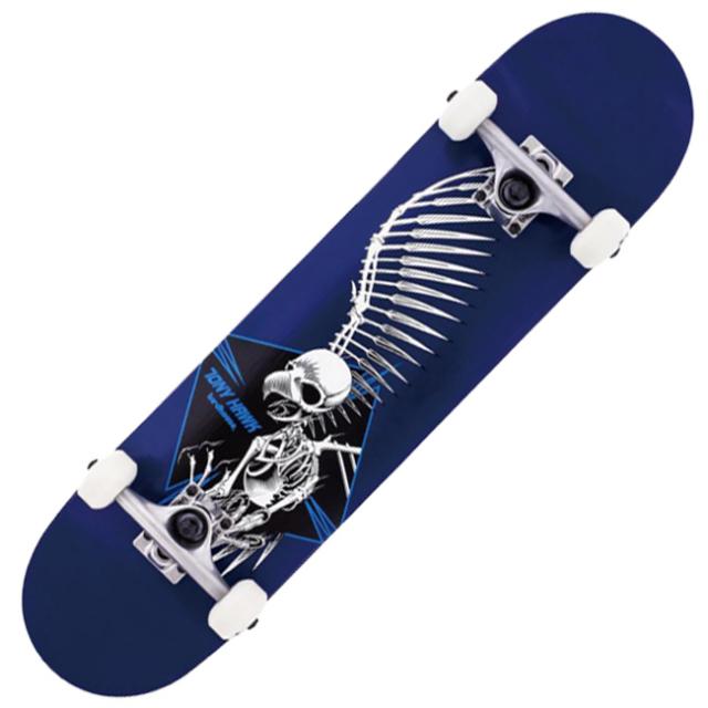 「届いたその日から乗れる!」バードハウス(BIRDHOUSE).スケートボードセット 完成品 コンプリートデッキ 30581-2 フルスカル/ネイビー(21y8m)