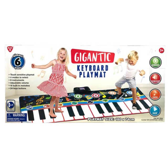 [180cmのワイドサイズ!]PLAYGO TOYS(プレイゴートイズ) ジャイアントキーボードプレイマット ジャンボ鍵盤 12346(20y12m)