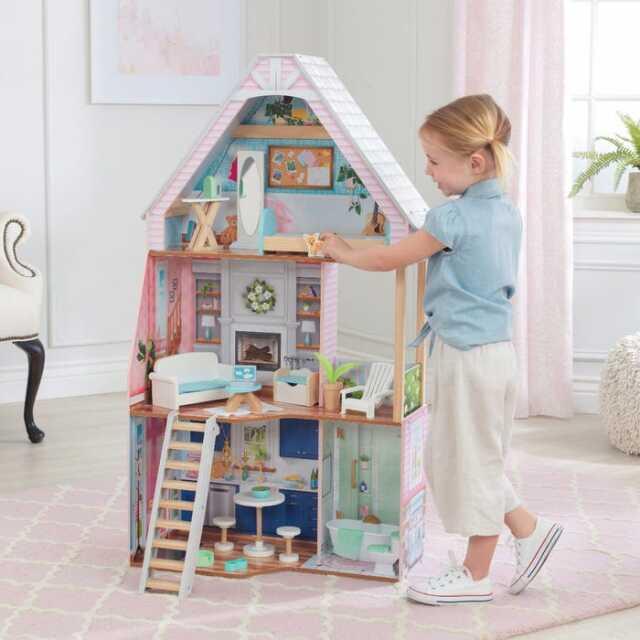 [30cm程度のお人形遊びに最適]キッドクラフト(KidKraft) マチルダドールハウス 3階建て 大型ハウス 23688(20y11m)