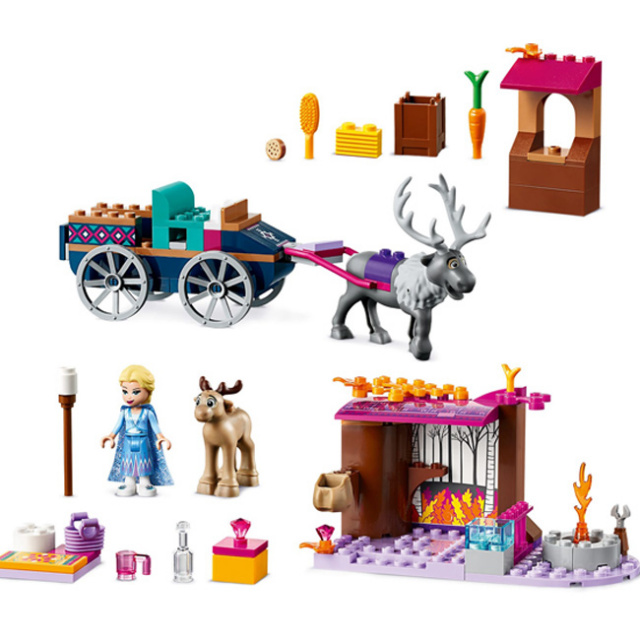 レゴ(LEGO) ディズニープリンセス アナと雪の女王2 エルサのワゴン・アドベンチャー 41166(21y3m)