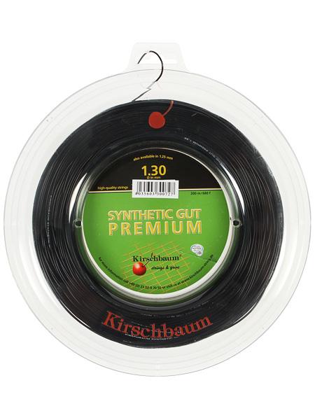 キルシュバウム シンセティックガット プレミアム(1.25mm/1.30mm) 200Mロール 硬式テニスガット モノフィラメント ガット(Kirschbaum Premium Syn Gut )