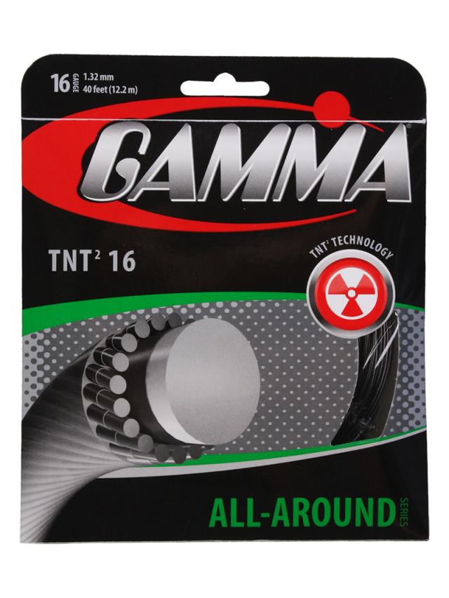 【パッケージ品】ガンマ TNT2 (18/1.17mm 17/1.27mm 16/1.32mm) 硬式テニスガット モノフィラメント Gamma TNT2 (16/17)strings