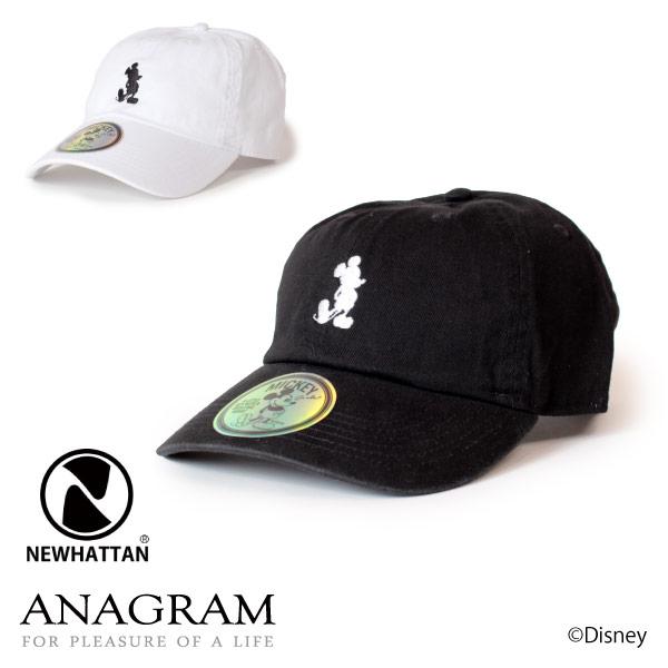 (アナグラム) ANAGRAM ミッキーマウスコレクション ローキャップ 帽子 刺繍 Newhattan ニューハッタン 別注 メンズ レディース