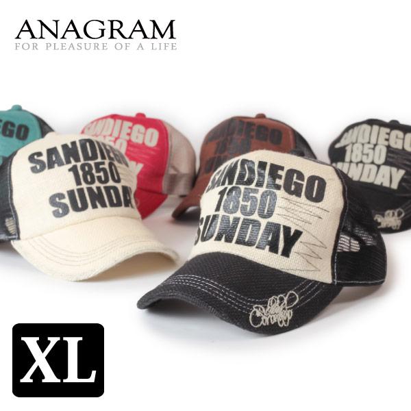 (アナグラム) ANAGRAM キングサイズ ヘンプメッシュキャップ 大きいサイズ ビッグサイズ 帽子