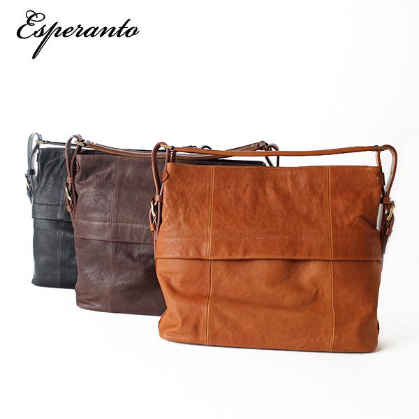 LINE限定クーポンで20%OFF★【即納】【送料無料】エスペラント esperanto イタリアレザー ショルダーバッグ トートバッグ 4wayバッグ 鞄