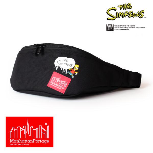 (マンハッタンポーテージ) Manhattan Portage ×The Simpsons ウエストポーチ ウエストバッグ Brooklyn Bridge Waist Bag MP1100SIMPSONS