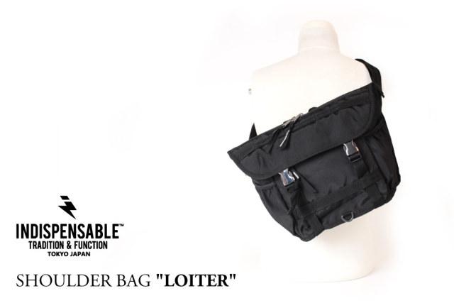 (インディスペンサブル) INDISPENSABLE ショルダーバッグ 斜めがけ メッセンジャーバッグ 14L IDP SHOULDER BAG LOITER