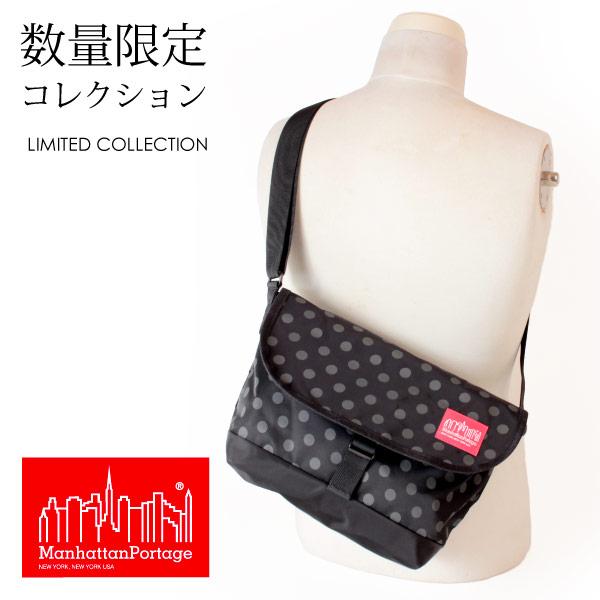 (マンハッタンポーテージ) Manhattan Portage メッセンジャーバッグ ショルダーバッグ Casual Messenger Bag Dot Print MP1605JRSPDDOT19